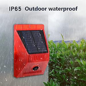 Lampa solara cu alarma pentru protectie, senzor de miscare