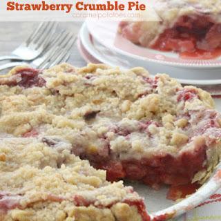 Strawberry Crumble Pie.