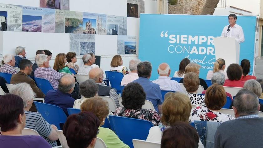 El candidato del PP a la reelección, Manuel Cortés.
