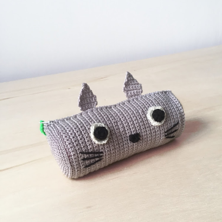 Crochet Totoro Pencil case
