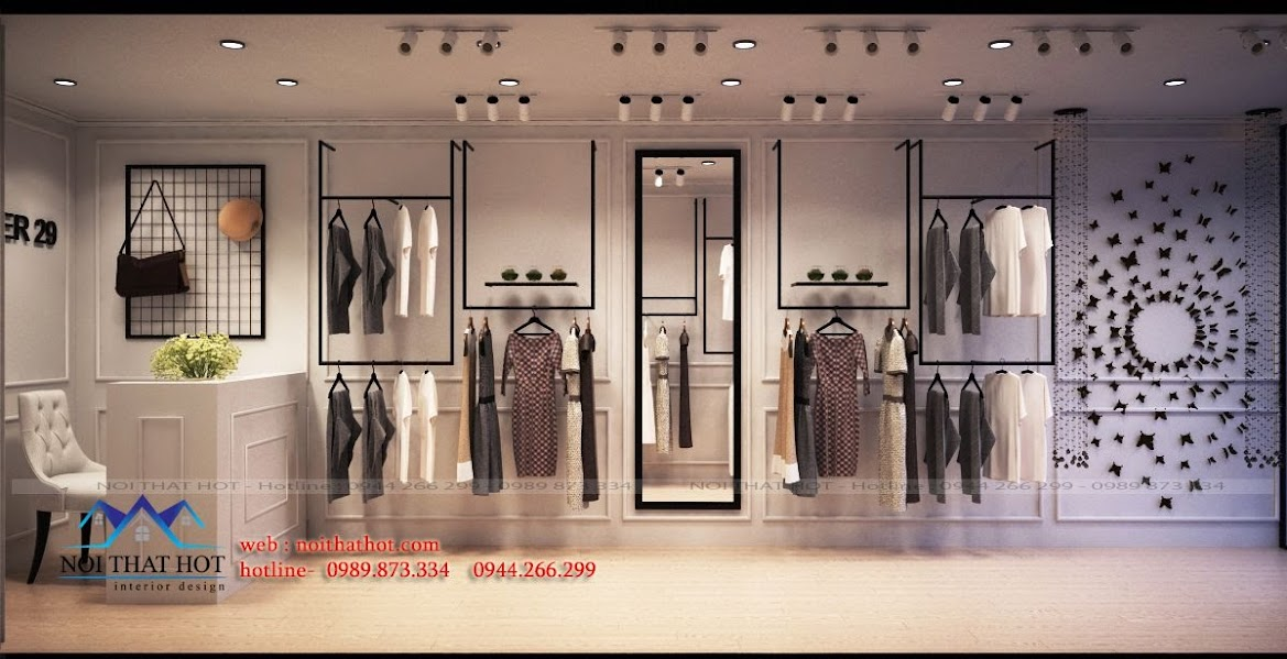 thiết kế shop thời trang đẹp mắt