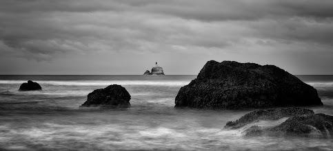 Photo: Tillamook Rock Lighthouse at Ecola State Park off the coast of Oregon.  Prints available: http://bit.ly/1y1JUtC  #oregon #photography #oregoncoast #lighthouse #blackandwhite