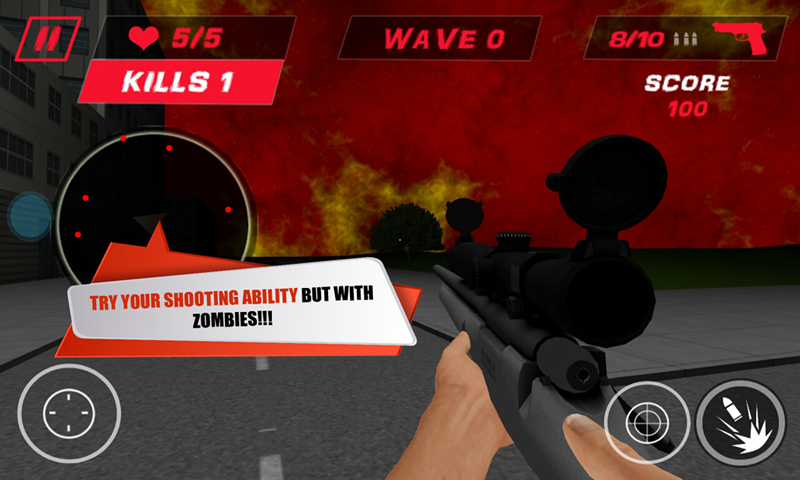 Zombie Hunter Sniper Killer- screenshot