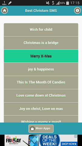 android Best Christmas SMS Screenshot 0