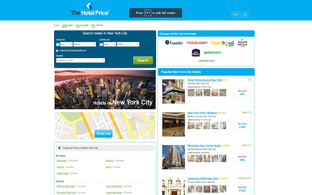 Best Hotel Deals in New York -Hotel Finder