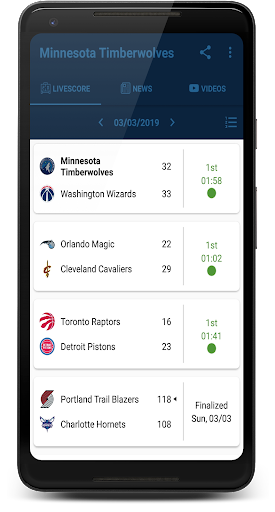 Minnesota Timberwolves: Livescore & News 2.0.3 screenshots 1