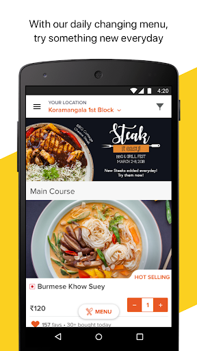 FreshMenu - Food Ordering App for PC