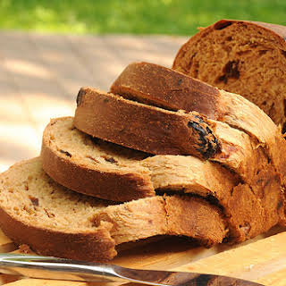 Golden Egg Bread with Dried Fruit.