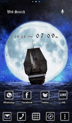 壁纸·图标 在月夜启航
