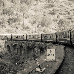 On to Shimla in the Toy Train!! by Abhishek Shirali - Transportation Trains (  )
