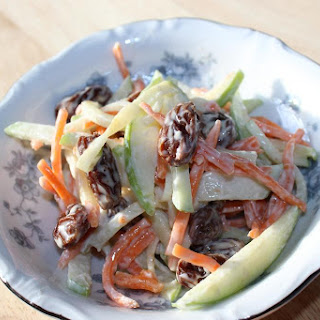 Apple Carrot Raisin Slaw - Vegan