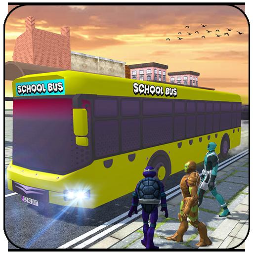 Super Hero Kids School Bus Driver