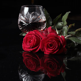 Brandy glass cup by Cristobal Garciaferro Rubio - Food & Drink Alcohol & Drinks ( cup, rose, glass cup, roses, flowers, flower )
