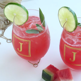 Fresh Watermelon Mojito by Pink Recipe Box.