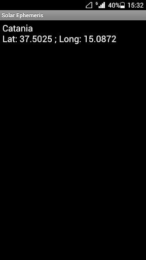 Solar Ephemeris 1.4 screenshots 4