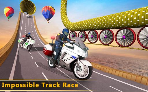 Police Bike Mega Ramp Impossible Bike Stunt Games painmod.com screenshots 12