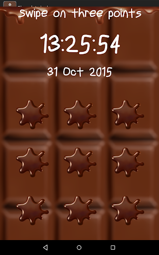 Chocolate lockscreen