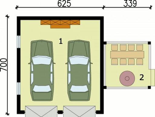 G63 - Rzut garażu