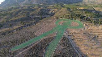 La zona de la vega donde se está realizando el proycto de AlVelAl.