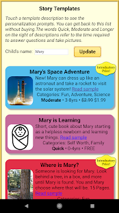 Read With Me Kids - Make Personalized Story Books- screenshot thumbnail