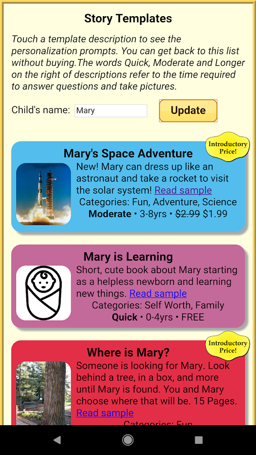 Read With Me Kids - Make Personalized Story Books- screenshot