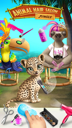 Jungle Animal Hair Salon - Styling Game for Kids android2mod screenshots 2