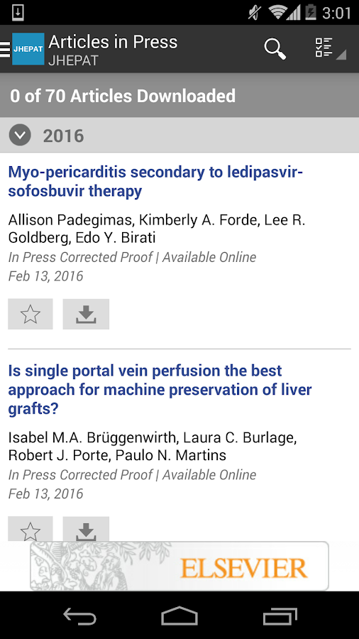 The Journal of Hepatology- screenshot