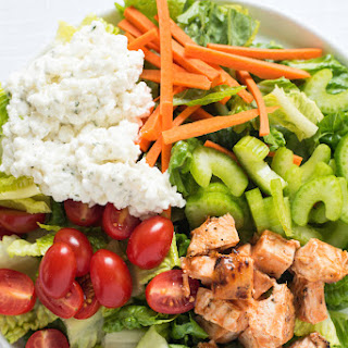Buffalo Chicken Salad with Ranch Cottage Cheese.
