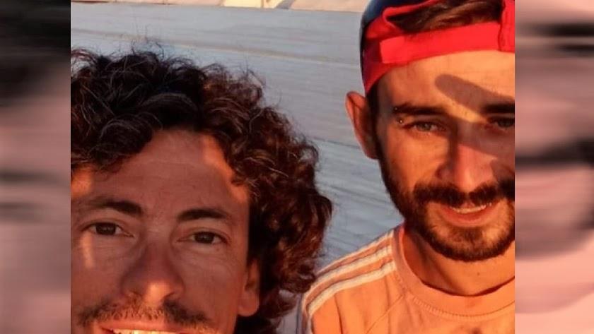 Julio e Iván unas horas antes de la desaparición
