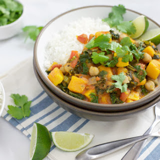 Slow Cooker Sweet Potato Curry with Chickpeas.