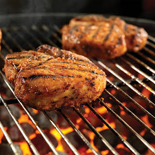 """Sweet Fire"" Porterhouse Pork Chops."