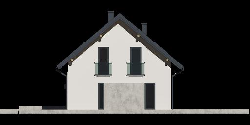 Dom przy Alabastrowej 37 - Elewacja prawa