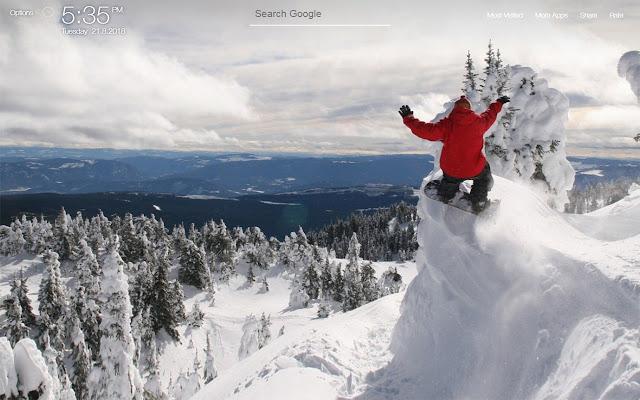 Snowboarding Wallpapers FullHD New Tab