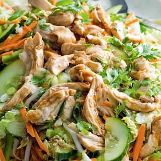 Asian Turkey Salad with Peanut Dressing