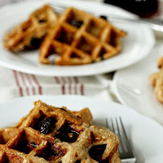 Whole Wheat Oatmeal Raisin Waffles