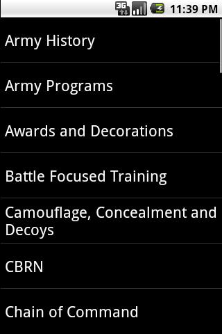 army programs study guide
