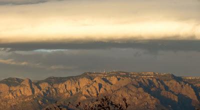 Photo: Sandia Mt sunset, from Albuquerque Sunset