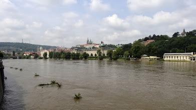 Photo: 2013, kurz vor unserem Tourstart führte Starkregen zu schweren Überschwemmungen entlang der Elbe. Auch die Moldauregion war betroffen.