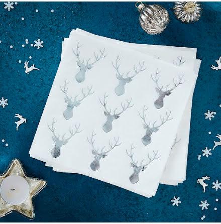 Servetter - Silver Christmas.