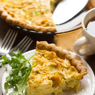 Potato Leek Vegan Quiche.