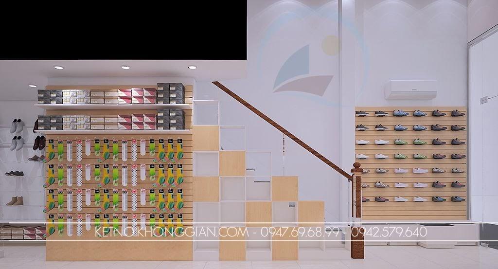 trang trí thiết kế shop giày dép mới lạ