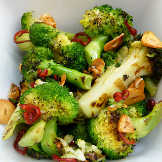 Chargrilled Broccoli with Chilli and Garlic.