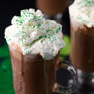 Shamrock Mint Hot Chocolate.