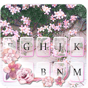 Pink Floral Wall Keyboard Theme APK for Ubuntu