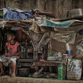 SHELTER by Bong Flores - Babies & Children Child Portraits ( home, orphan, sadness, poverty, homeless, alone, depression )