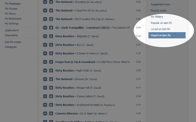 Oh My Audio Charts