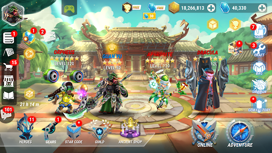 Heroes Infinity: God Warriors Apk + MOD (Money) for Android 1