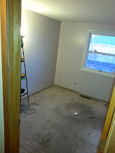 Photo: Some nasty dirty carpet. I painted the walls before replacing the carpet, knowing I didn't care about the old stuff.