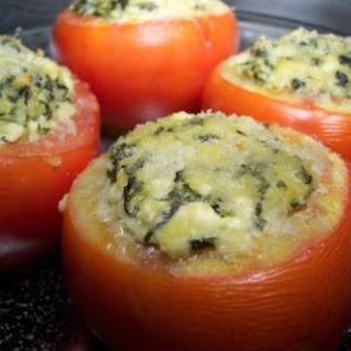 Cheesy Spinach Stuffed Tomatoes
