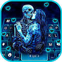 Ghost Lovers Kiss Keyboard Theme icon